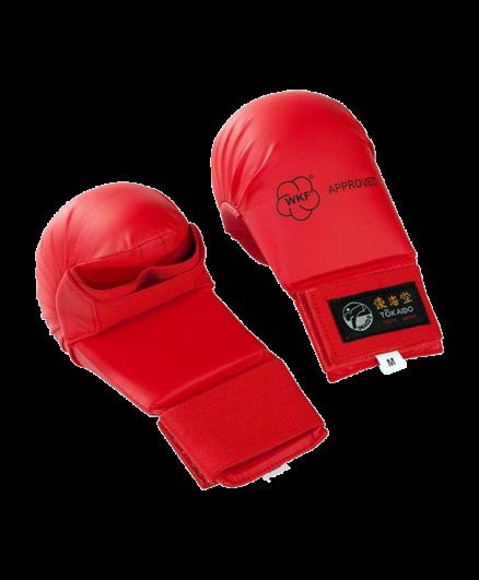 Накладки для карате без защиты большого пальца красные Tokaido WKF