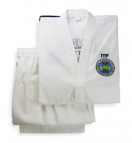 Кимоно для тхэквондо Sasung Black Belt ITF