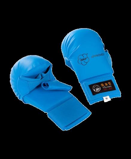 Накладки для карате с защитой большого пальца синие Tokaido WKF
