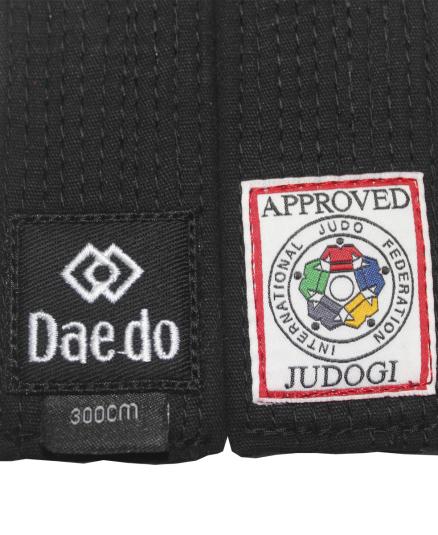 Пояс для дзюдо Daedo Black Belt Master IJF Approved